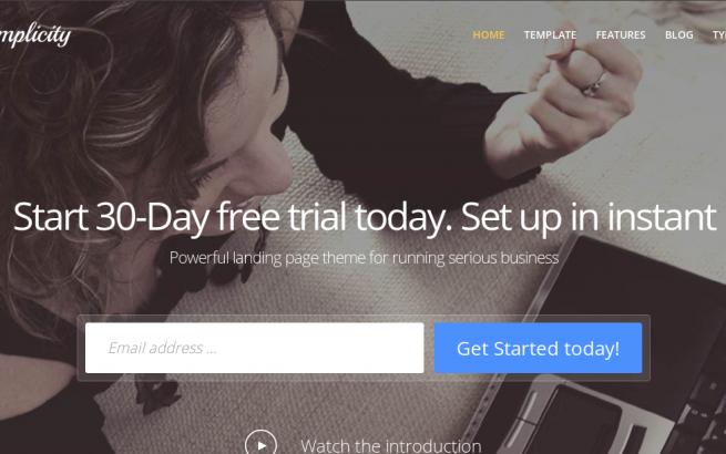 Joomla Template: Simplicity Responsive, premium Joomla! template for business start-up