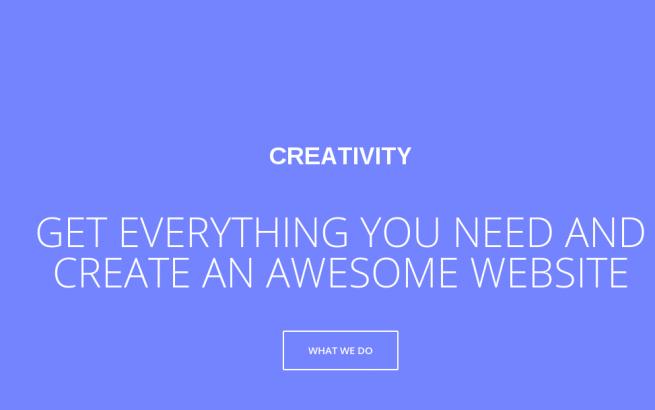 Joomla Template: Creativity Responsive, one page portfolio Joomla template