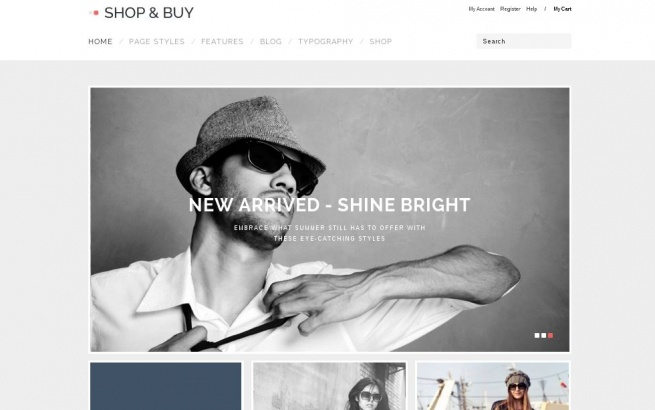 Wordpress Theme: Shop & Buy