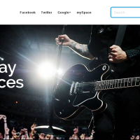 Joomla Free Template - RockWall Joomla! music template designed for musicians, bands, artist, bloggers and  the entertainment industry