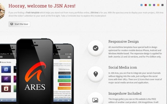 Joomla Template: JSN Ares
