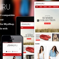 joomlashine Joomla Template: JSN Nuru - Responsive Joomla E-commerce Template & MijoShop support