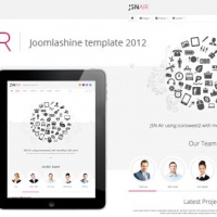 joomlashine Joomla Template: JSN Air - Responsive Business Portfolio Template