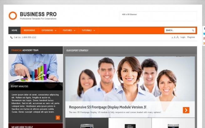 Joomla Template: Business Pro