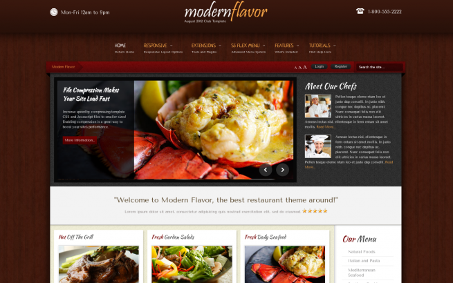 Wordpress Theme: Modern Flavor - June 2013 Wordpress Club Theme