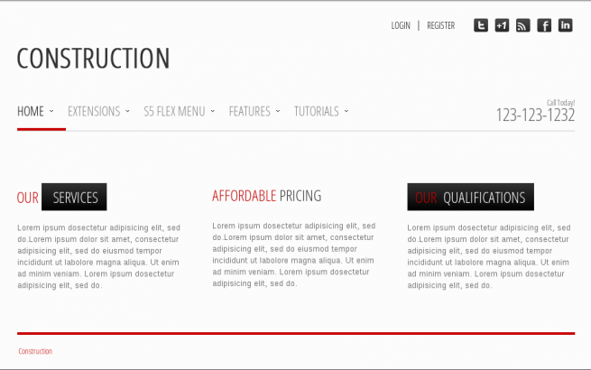 Wordpress Theme: Construction