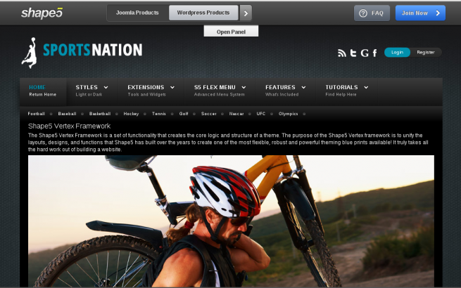 Wordpress Theme: Sports Nation