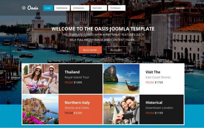 Joomla Template: Oasis