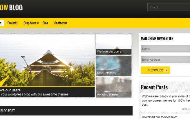Wordpress Theme: Yellow Blow