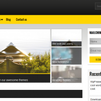Wordpress Free Theme - Yellow Blow