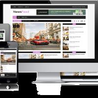 WpFreeware Wordpress Theme: NewsFeed