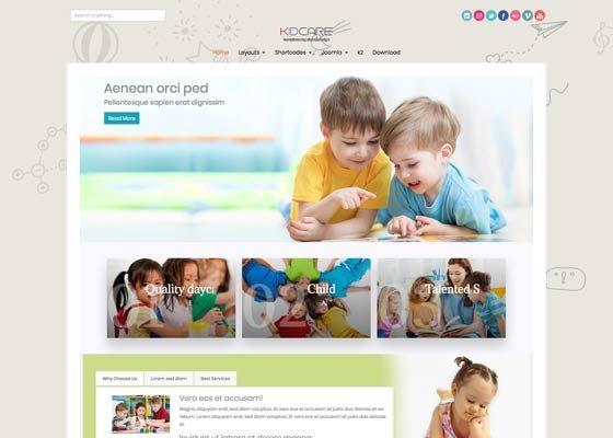 Joomla Template: Ol Kidcare