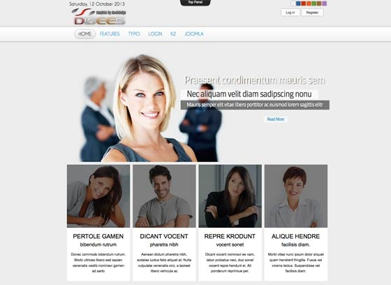 Joomla Template: Ol Digees - Joomla Responsive template