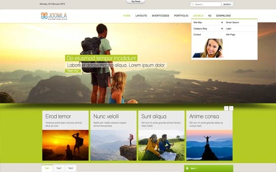 Joomla Template: Mx_joomla122 - Free template