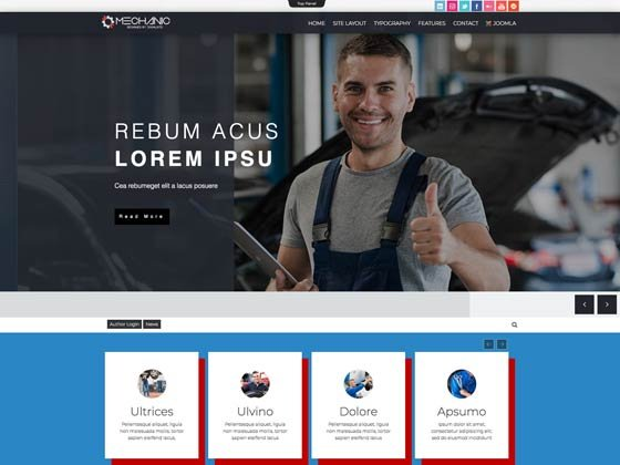 Joomla Template: Td Mechanic