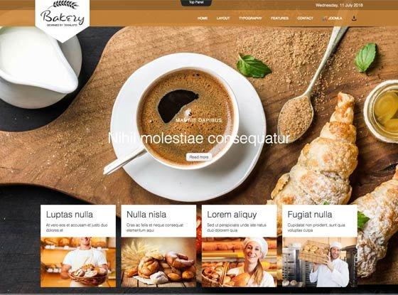 Joomla Template: Td Bakery