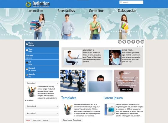 Joomla Template: Td Definition - Responsive Joomla template