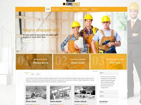 Joomla Template: Td Construct