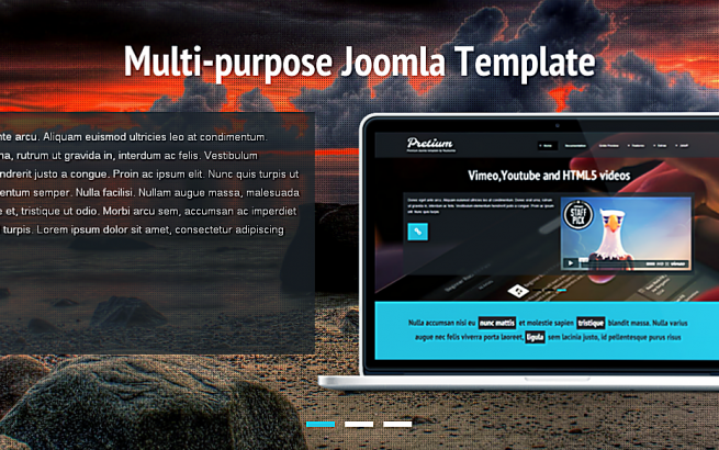 Joomla Template: Pretium