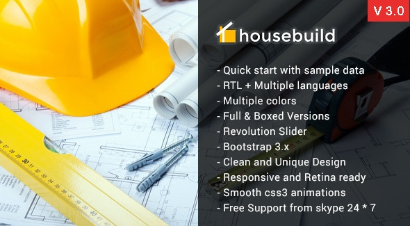 Joomla Template: Housebuild::- Joomla Construction Business Theme