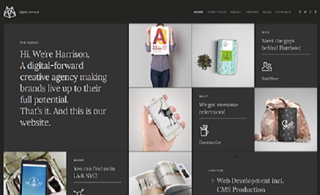 Joomla Template: Harrison – Joomla Multipurpose Portfolio & Blog