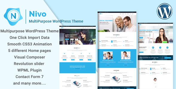 Wordpress Theme: Nivo - Responsive Multi-Purpose Business WordPress Theme