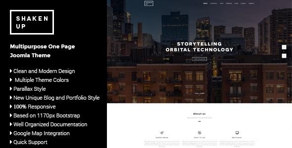 Joomla Template: Shaken-Up - #Multipurpose #OnePage #Joomla #Template