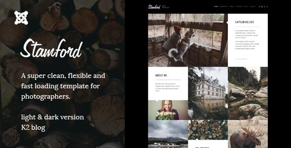 Joomla Template: Stamford – #Joomla #Photography #Portfolio & #Blog
