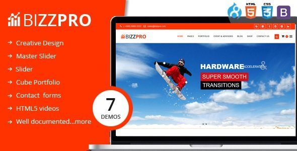 Drupal Theme: Bizzpro - Multipages Drupal 8 Multipages Theme