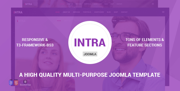 Joomla Template: Intra - Multi-Page + One Page Multi-Purpose Joomla Theme