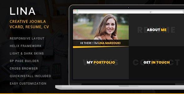 Joomla Template: Lina - Creative vCard, Resume, CV Joomla Theme