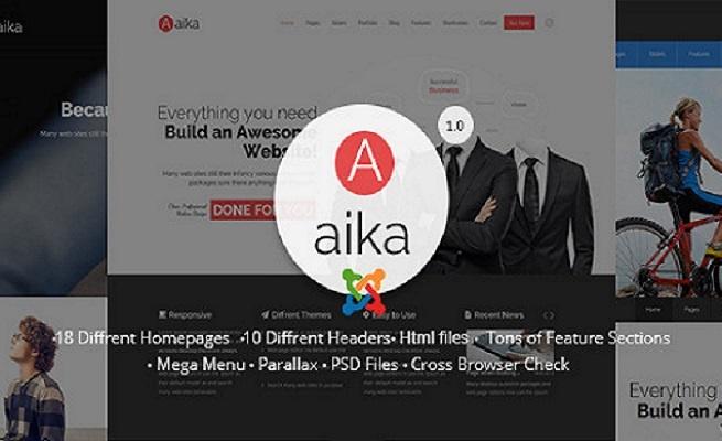 Joomla Template: Aaika - Responsive Multipurpose