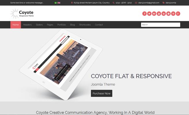 Joomla Template: Coyote: Responsive Business Joomla Template