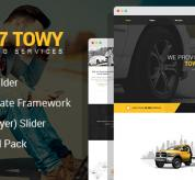 Joomla Premium Template - Towy - Emergency Auto Towing and Roadside Assistance Service Joomla Theme with Page Builder