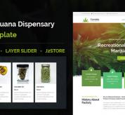 Joomla Premium Template - Canabia - Medical Marijuana Dispensary Joomla Theme With Page Builder