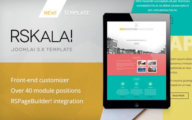 Joomla Template: RSKala! Responsive Template for Joomla! 3.x