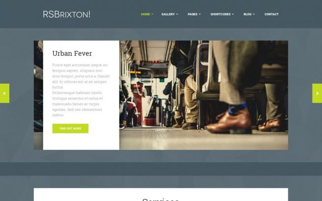 Joomla Template: RSBrixton - Responsive Joomla Template