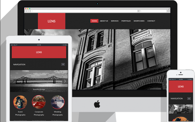 Joomla Template: RSLens! Responsive Template for Joomla! 2.5 and 3.x