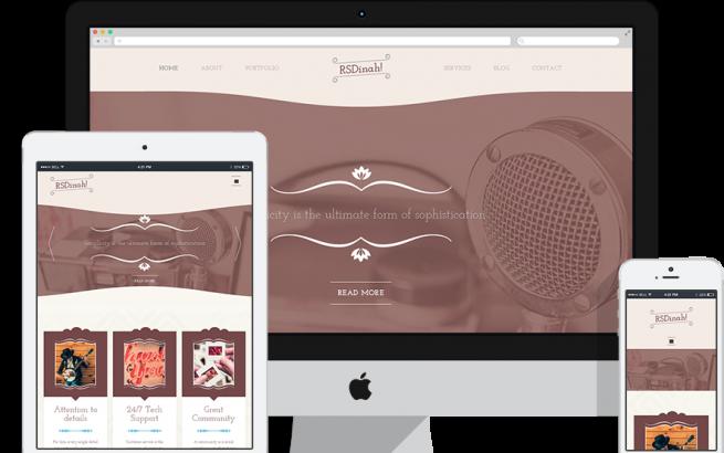 Joomla Template: RSDinah! Responsive Template for Joomla! 2.5 and 3.x