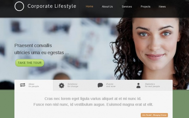 Joomla Template: Corporate