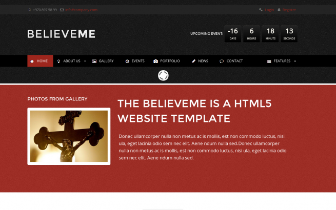 Wordpress Theme: Believeme Wordpress Template