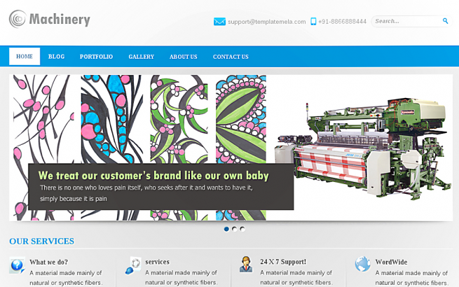 Wordpress Theme: Machinery