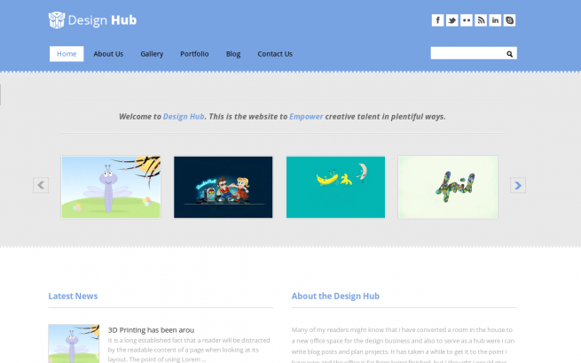 Wordpress Theme: Design Hub Wordpress Theme