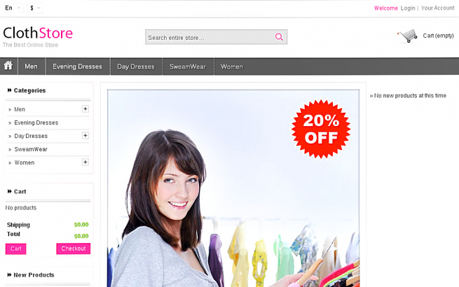 Prestashop Template: Cloth Store Prestashop Theme