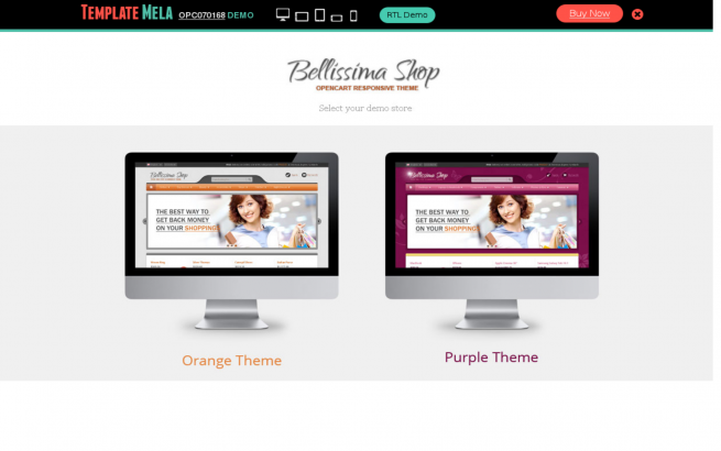 Opencart Template: Bellissima