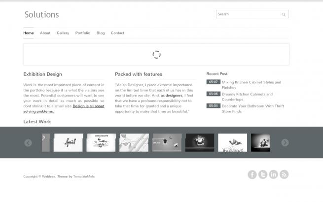 Wordpress Theme: Solution Wordpress Template
