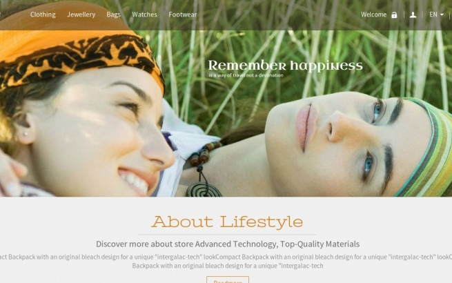 Prestashop Template: LifeStyle Prestashop
