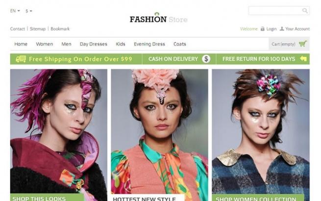 Prestashop Template: Fashion Store