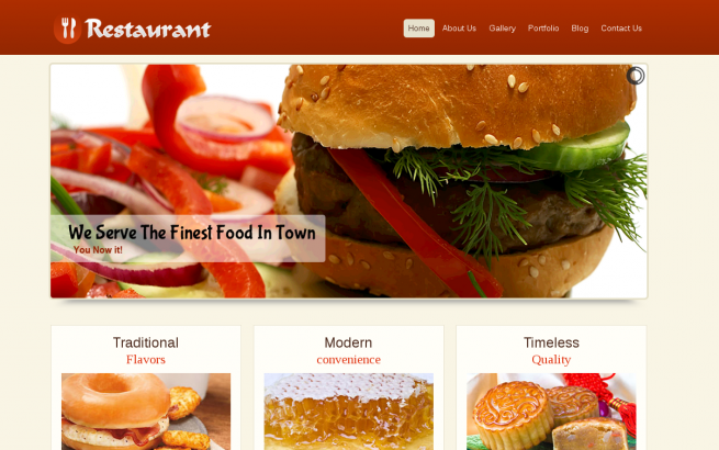 Wordpress Theme: Restaurant Wordpress Template