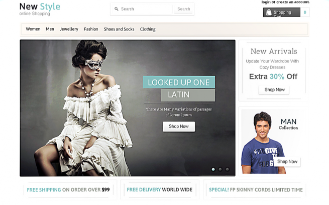 Opencart Template: New Style